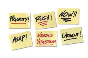 Urgent, Rush, Priority